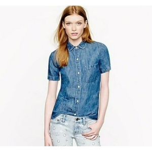 J. Crew Chambray S/S Button-front Shirt